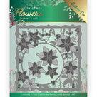 Snijmal - Jeanines Art Christmas Flowers - Poinsettia Frame JAD10102