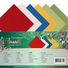 Linen Cardstock Pack - A5 - Jeanines Art Christmas Flowers JA-A5-10011