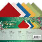Linen Cardstock Pack - 4K - Jeanines Art Christmas Flowers JA-4K10011