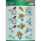 3D knipvel - Christmas Lantern - Jeanine's Art Christmas Flowers CD11557