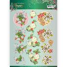 3D knipvel - Christmas Bells - Christmas Flowers - Jeanine's Art CD11556