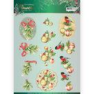 3D knipvel - Christmas Flowers - Mistletoe - Jeanines Art CD11555