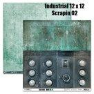 Scrappapier Industrial 02 - 30,5x30,5 cm - Studio Light - SCRAPIN02