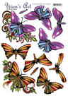 3D Knipvel - Yvon's Art - Butterflies - CD11303