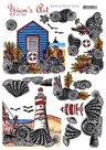 3D knipvel - Yvon's Art Factory - On The Beach - CD11162