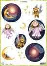 CraftEmotions Decoupage vellen Angel & Bear 1 A4 170 grm Carla Creaties