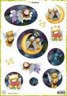 CraftEmotions Decoupage vellen Angel & Bear 2 A4 170 grm Carla Creaties