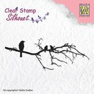 Clear stamps - Silhouet - Branch with birds SIL010