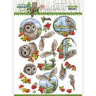 SB10488 3D Push Out - Amy Design - Amazing Owls - Meadow Owls