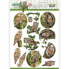 SB10487 3D Push Out - Amy Design - Amazing Owls - Forest Owls