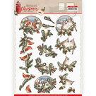 CD11560 3D cutting sheet - Amy Design - Nostalgic Christmas - Christmas Birds