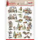 CD11559 3D knipvel - Amy Design - Nostalgic Christmas - Christmas Village