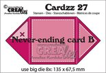 CLCZ27 Crealies Cardzz Oneindige kaart B  13,5 x 13,5 cm