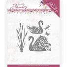 PM10192 Dies - Precious Marieke - Pretty Flowers - Pretty Swans