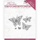 PM10193 Dies - Precious Marieke - Pretty Flowers - Pretty Butterflies