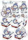 3D knipvel - Yvon's Art - Snowmen CD11550