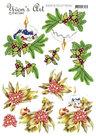 3D knipvel - Yvon's Art - Christmas Candle CD11553