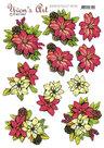 3D knipvel - Yvon's Art - Poinsettia CD11551