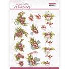 CD11580 3D knipvel Precious Marieke - Pretty Flowers - Red Flowers
