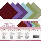 PM-A5-10027 Linen Cardstock Pack - A5 - Precious Marieke - Pretty Flowers