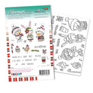 PD8094A  Polkadoodles stamp Christmas Tweetings