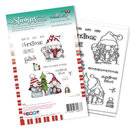 PD8097A Polkadoodles stamp Gnome Christmas Fishes