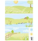 AK0086  Eline's backgrounds pastel meadows