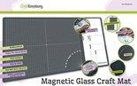CraftEmotions Glass Craft Mat (60,3 x 36,2cm) magnetisch Tempered glass grid 40x32cm