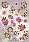 Tie2324 3D knipvel bloemen