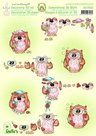 50.9531 3D knipvel Owlies Leane Creatief