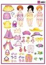 3DHM0023 3D knipvel aankleedsnoesje meisje