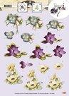 CD10293 knipvel 3D bloemen Marieke