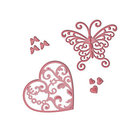 s3-211 Spellbinders D-Lites snijmal Flutter Love
