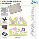 SIZ658073 Sizzlits decorative strip Flower Vines