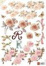 mb0134 3D knipvel bloemen rozen