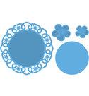 LR0388 Creatables snijmal Flower Doily