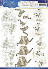 CD10577 Knipvel 3D - Precious Marieke - Winter Wonderland - Winter Animals