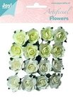 6370-0063 Artificial flowers wit-creme