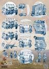 CD10654 Knipvel draai-orgel Delfts Blauw Oud Hollands Amy Design