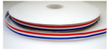 340013 dubbelzijdig rood wit blauw lint 10 mm