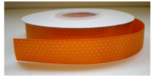 865039 oranje lint met witte stipjes 16 mm