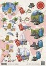 CD10503 Knipvel Amy Design Maps vakantie