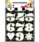 470.455.006 Dutch Doobadoo Stencil Art Numbers 2