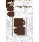 6003-0062 Snijmal Dubbele tag Joy!Crafts Vintage Flourishes