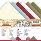 YC-A5-10010 Linnenkarton A5 Traditional Christmas Yvonne Creations