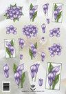 Tie2335 3D knipvel bloemen