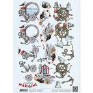 CD10879 3D Knipvel - Amy Design - Maritime - Zee elementen
