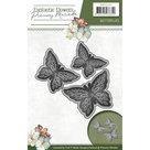 PM10095 Die - Precious Marieke - Fantastic Flowers - Butterflies