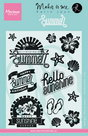 KJ1714 Clear Stamp summer Karin Joan