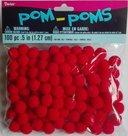 Pompoms rood 1,27 cm - Vaessen